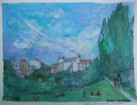 Ken Wada, Square Alberto Giacometti, 2008
