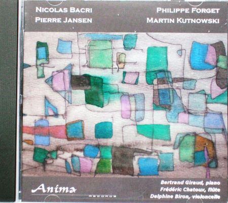 Composition des Couleurs sur la pochette CD de Bertrand Giraud, Frederic Chatoux