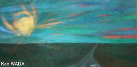 Le soleil couchant aux champs de Maintenon