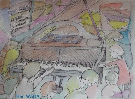 Un piano a queue qu'on a vu pour la premiere fois