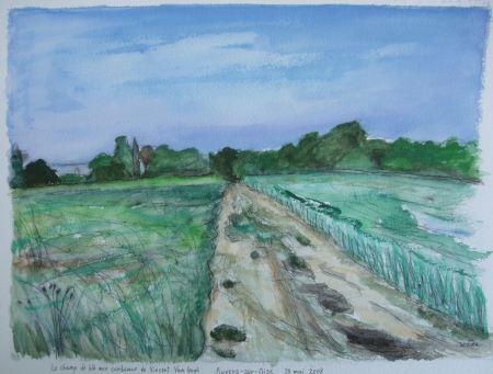 Le Champ de ble aux corbeaux d'Auvers-sur-Oise de Van Gogh