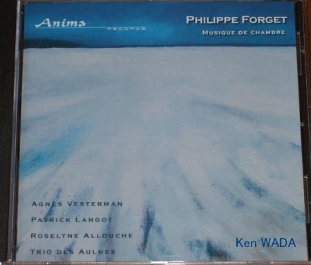 """""""Les champs de Maintenon 6 sous la neige"""" sur la pochette CD de Philippe FORGET"""