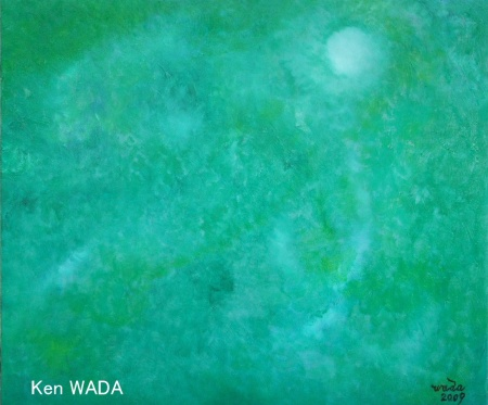Surface de l'eau 8 (ou Reflets de verts)